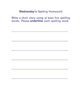 Spelling Packet (First grade)