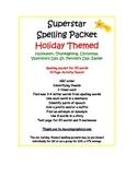 Spelling Packet Holiday Themes Superstars