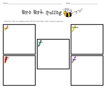 Spelling Packet Of Worksheets and Printables