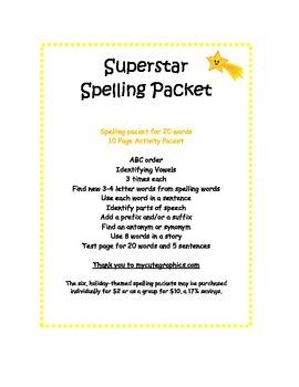 Spelling Packet Superstars