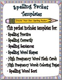 Spelling Packet Template:  Create Your Own Spelling Worksheets!