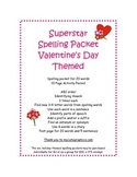 Spelling Packet Valentine's Day Superstars