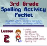 Spelling Packet for HMH Journeys Grade 3 Lesson 2 Trial of Cardigan Jones