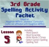 Spelling Packet for HMH Journeys Grade 3 Lesson 5 Roberto Clemente