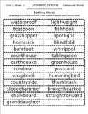 5th Grade Reading Street Spelling Packs Unit 1-6,