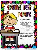 Spelling Paper Variety Pack - Primary (5, 10, 20 Words)