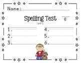 Spelling Paper for Journey's Program