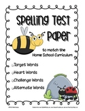 Spelling Paper to Match the Home School K-12 Curriculum