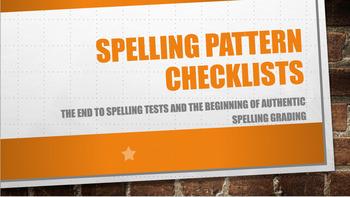 Spelling Pattern Checklists
