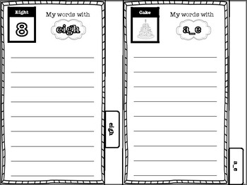 Spelling Pattern Mini-book (includes long vowels, digraphs & diphthongs)