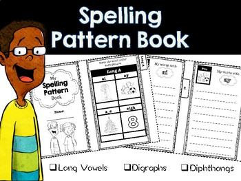 Spelling Pattern Mini-book (includes long vowels, digraphs