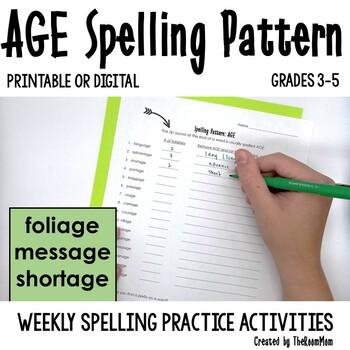 AGE Spelling Pattern