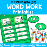 Phonics Literacy Center & Flip Book (Consonant Digraphs 'ph' and 'gh')