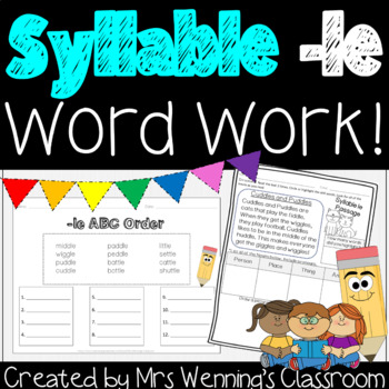 Syllable -le Pack! A Week of Lesson Plans, Activities & Word Work!