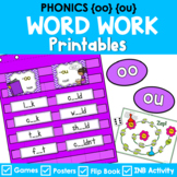 Phonics Literacy Center & Flip Book (vowel digraphs 'oo' a