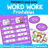 Phonics Literacy Center & Interactive Notebook (Vowel Digraphs 'ou' and 'ow')