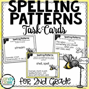 Spelling Patterns Task Cards - L.2.2.D