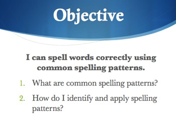 Spelling Patterns - Focus on Word Families & Plurals