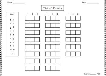 Spelling Patterns.  Phonics.