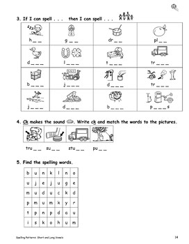 Spelling Patterns Short and Long Vowels