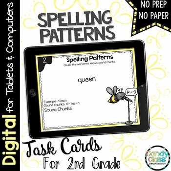 Spelling Patterns Task Cards for Google™ Use - Paperless Resource