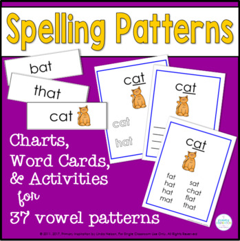 Spelling Pattern Charts and Activities for 37 Rimes