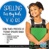 Spelling Patterns for Big Kids: Spelling Y to I when addin