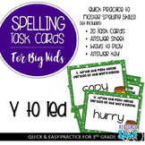 Spelling Patterns for Big Kids: Y to i (Dropping y adding ied) Task Cards