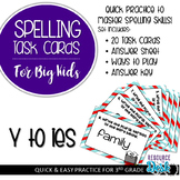 Spelling Patterns for Big Kids: Y to i (Dropping y adding ies) Task Cards