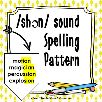 TION, CIAN, SION, SSION Spelling Pattern