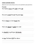 Spelling Phonics Homework - Diphthongs aw au augh al