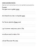 Spelling/Phonics Homework - Diphthongs ow, ou, oy, oi, oo, u