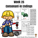 Spelling & Phonics Instruction for First Grade Week 25-Consonant-le Endings