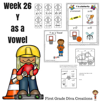 Spelling & Phonics Instruction for First Grade Week 26-Y as a Vowel