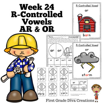 Spelling & Phonics Instruction for First Grade Week 24-R-Controlled AR and OR