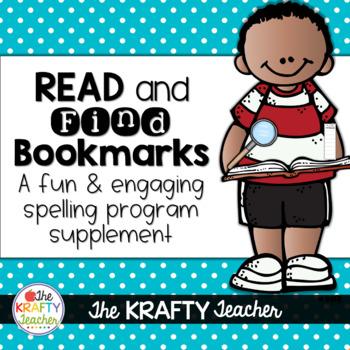 Spelling Phonics Supplement for Kindergarten First Second Read & Find Bookmarks