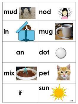 Spelling Picture Cards Saxon Phonics Set #1