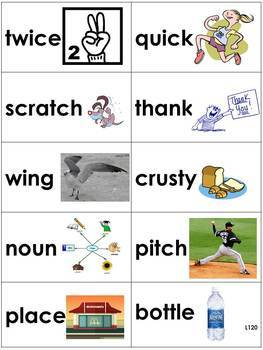 Spelling Picture Cards Saxon Phonics Set#4