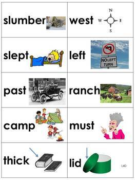 Spelling Picture Cards Saxon Phonics Set #2