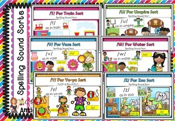 Spelling Picture Sound Sort Collection - ALL Consonants and Short Vowels