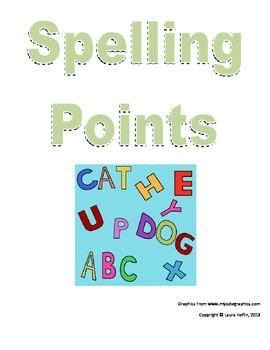 Spelling Points- Common Core ELA L.2, L.4