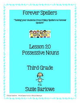 Spelling - Possessive Nouns - 3rd Grade