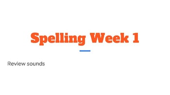 Spelling Powerpoint Wonders Unit 1 Week 1