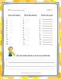 Spelling Word Practice - 2nd Grade - Journeys Complete Yea