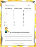 Spelling Word Practice - 2nd Grade - Journeys Aligned - Lesson 1