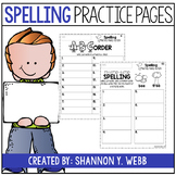 Spelling Practice Pages