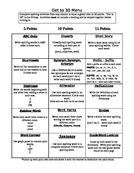 CCSS Aligned - Spelling Practice Activities - Any List, Any Grade