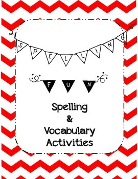 Spelling Practice Activities with bonus Vocabulary Activities