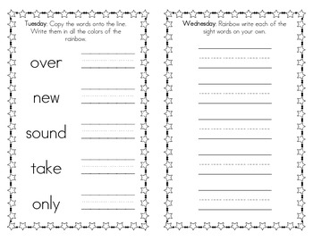 Spelling Practice Book - Fry's Second 100 Sight Words (101-200)