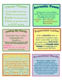 Spelling Practice Choice Cards